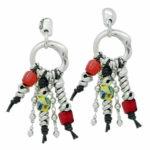 Long colorful boho earrings