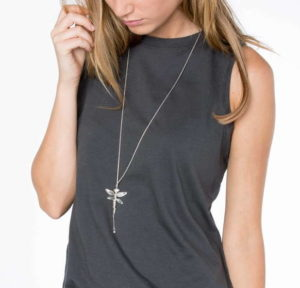 Long dragonfly necklace