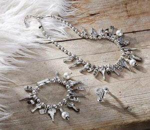 Charm Necklace with keys