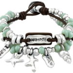 Leather Charm bracelet in surfer style