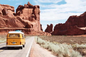 VW Bus on Journey