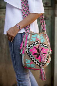 Colorful wayuu bag